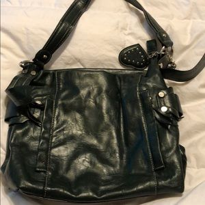 Rina Rich Hunter Green Faux Leather Purse